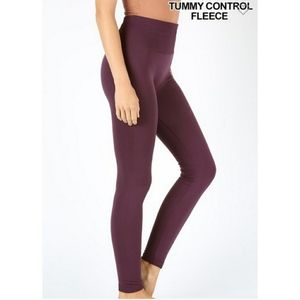 Fleece lined tummy control leggings